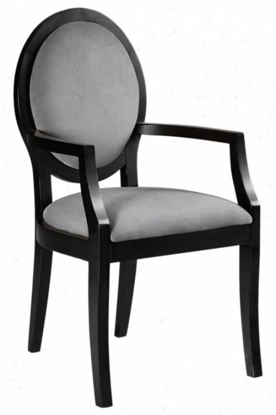 """zoe Arm Chair - 39.5""""hx21.5""""w, Solid Vlvt Grey"""
