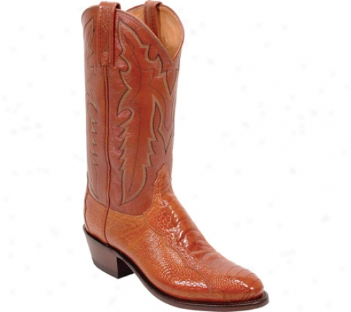 1883 By Lucchese N1023-j4 (m3n's) - Antique Cognac Ostrich Leg/antique Brwndy Goat