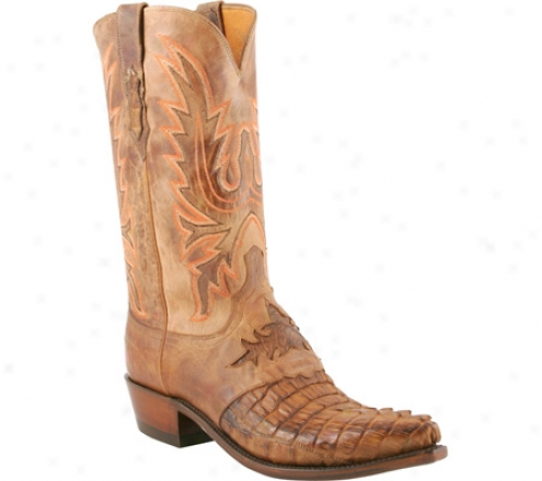 1883 By Lucchese N1115-54 (men's) - Tan Burnished H0rnback Caiman Tail/tan Burnished