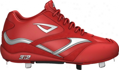 3n2 Showtime Mid (men's) - Red/silver