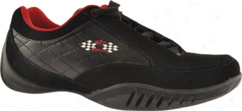 A2z Race-horse Gear Monza Driving Shoe (men's) - Black/red