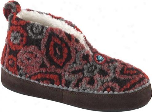 Acorn Lins Bootie (women's) - Brown/red