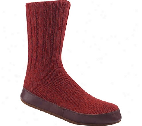 Acorn Slipper Sock - Red Ragg Wool