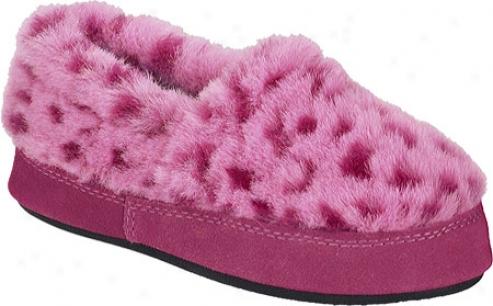 Acorn Tex Moc (children's) - Pink Ocelott
