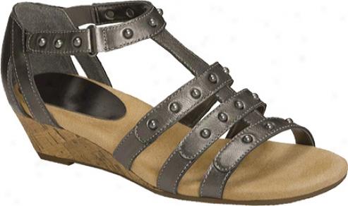 Aerosoles Chewbilee (women's) - Dark Silver Leather
