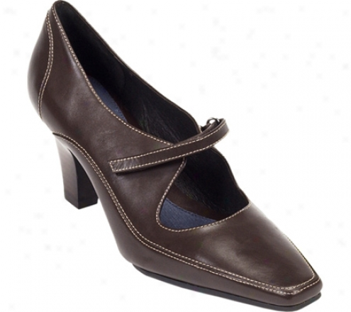 Aerosoles Elane (women's) - Brown Leatber