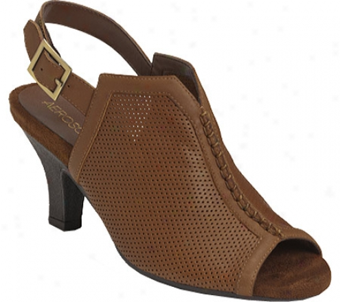 Aerosoles Fax Bracket (women's) - Mid Brown Leather