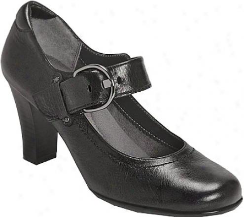 Aerosoles Role Wheat (women's) - Black Leather