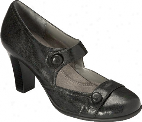 Aerosoles Rolling Hilps (women's) - Black Leather