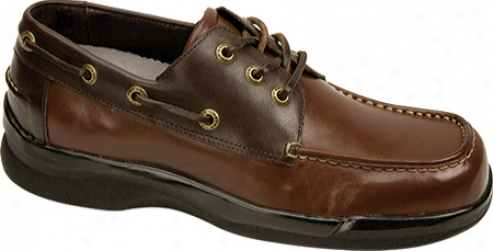 Aetrex Ambulator Biomechanical Boat Shoe (men's) - Pair Tone Leather