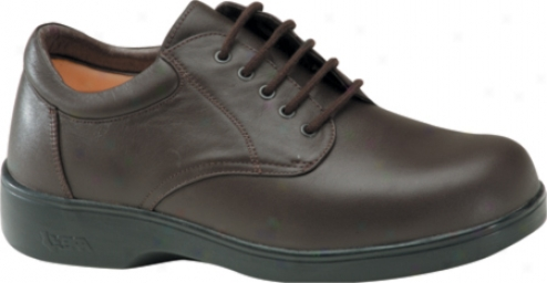 Aetrex Ambulator Conform Oxford (men's) - Brown Smooth Leather
