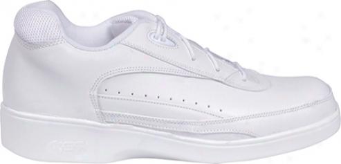 Aetrex Ambulator Lace Active Walker (men's) - White Leather