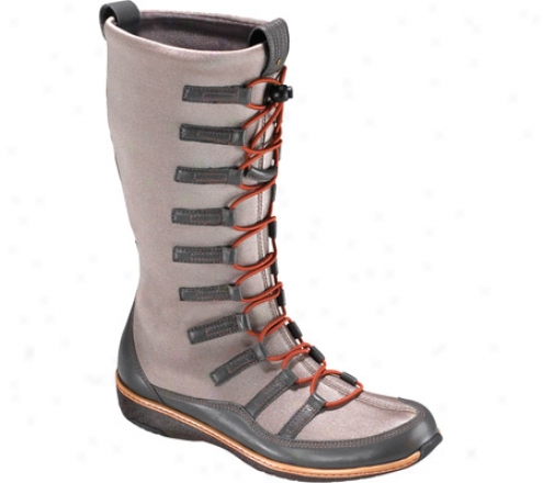 Aetrex Berries Bumgie Boots (women's) - Mochaberry Stretch Fabric/leather