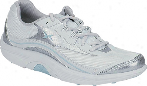 Aetrex Bodyworks Sport Lace (women's) - Silver/ice Leather/mesh