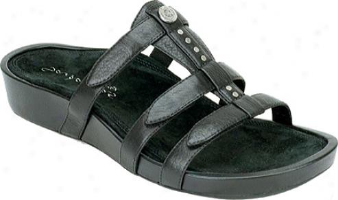 Aetrex Catalina Gladiator Adjustable (women's) - Black Full Grain Leather
