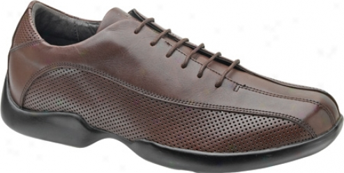 Aetrex Gamercy Perforated Oxford (men's) - Brown Leather