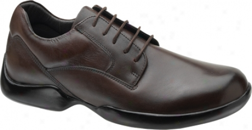 Aetrex Gramercy Plain Toe Oxford (men's) - Brown Leather