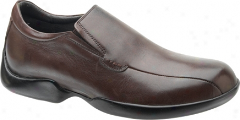 Aetrex Gramercy Slip On (mrn's) - Brown Learher