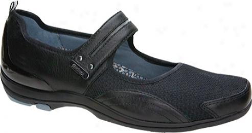 Aetrex Lizzy Mary Jane (wwomen's) - Black Leather/mesh
