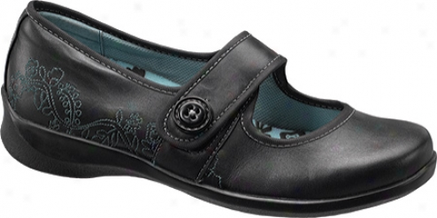 Aetrex Lucy Button (women's) - Black Leather