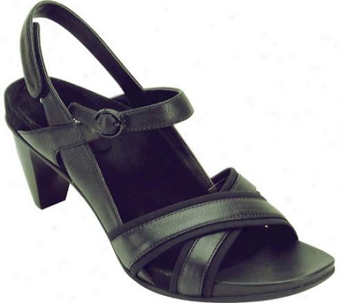 Aetrex Madeline Cross Strap Sandal (women's) - Black Stretch Fabric