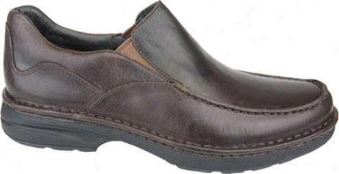 Aetrex Moc Slip-on (men's) - Harvest Brown Pull-up Leather