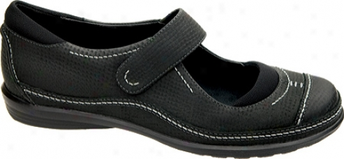 Aetrex Natalie Mary Jane (women's) - Black Full Grain Leather/mesh