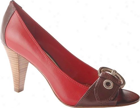 Ak Anne Klein Maia (women's) - Medium Red/brown Leather