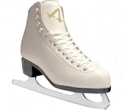 American 513 Sumilon Lined Figure Skate (girls') - White