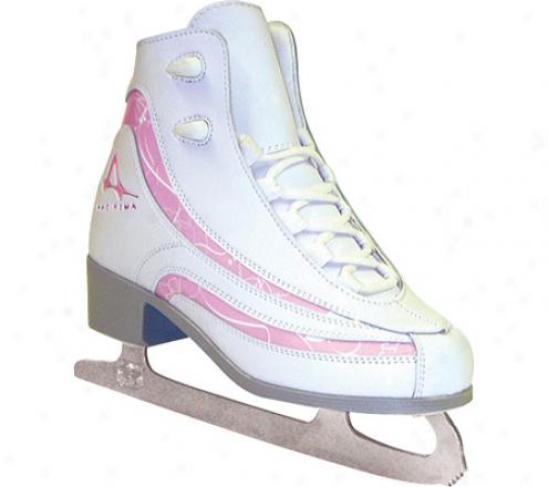 American 516 Softboot Figure Skate (girls') - White/pink
