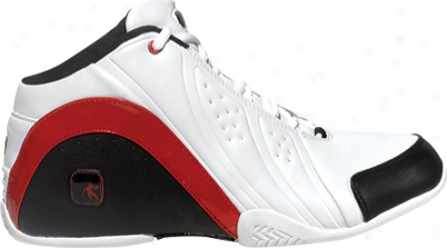 And1 Rocket 2.0 Mid (boys') - White/black/garskty Red