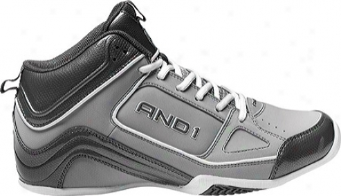 And1 Stagger Mid (men's) - Cement/dark Gray/white