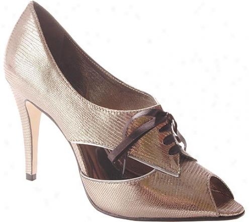 Anne Klein New York Belladonna (women's) - Gunmetal Metallic Lizard Leather/silver