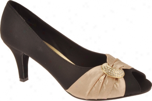 Annie Madora (women's) - Black Microfiber/gold Satin