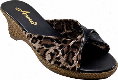 Annie Twisted (women's) - Black/leopard