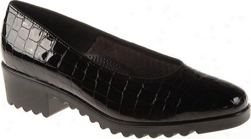 Ara Miley 45057 (women's) - Black Croco Patent