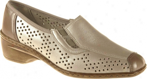Ara Rickie 51112 (women's) - Silver/taupe Leather