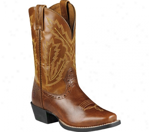 Ariat Adriano Moraes Bull Rider (children's) - Coyote Brown/plank Brown Full Grain Leather