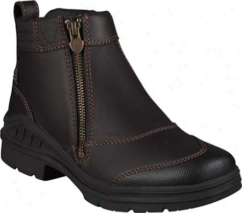Ariat Barn Yard Side Zip (women's) - Dark Brown Waterproof Ful lGrain Leather