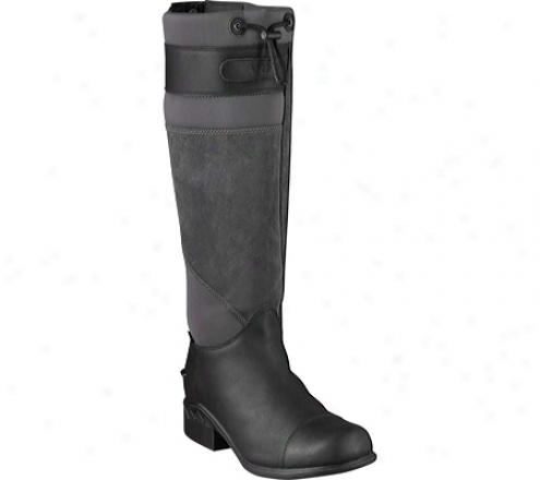 Ariat Brossard Tall (women's) - Black Waterproof Full Grain Leather/suede/neoprene