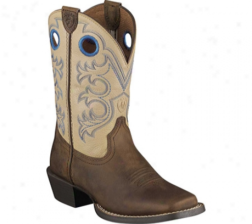 Ariat Cross Fire (infants') - Distressed Brown/cream Full Grain Leather