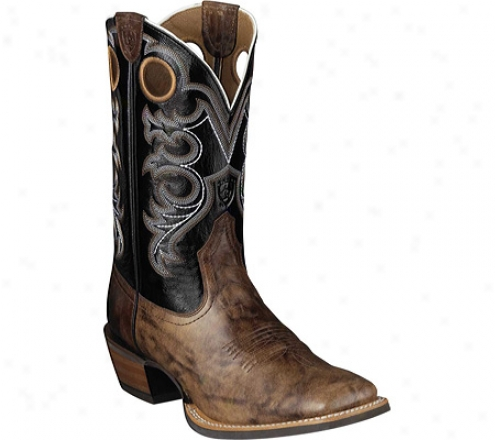 Ariat Crossfire (men's) - Weathered Brown/shadow Black Full Seed Leather