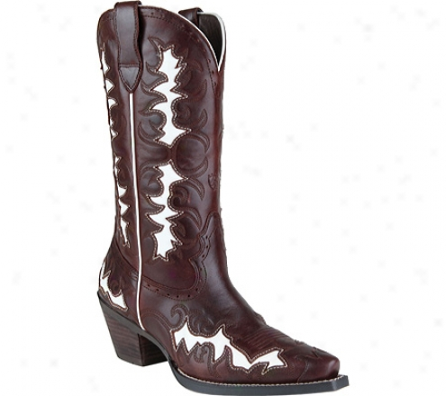 Ariat Dandy (women's) - Side Saddle Brown/white Full Grain Leather