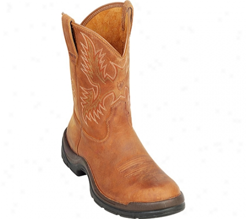 Ariat Flexpro Wes5ernP ull-on (men's) - Desert Brown Full Grain Leather