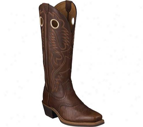 Ariat Heritage Buckaroo Square Toe (men's) - Dwrk Copper/mandarin Full Grain Leather