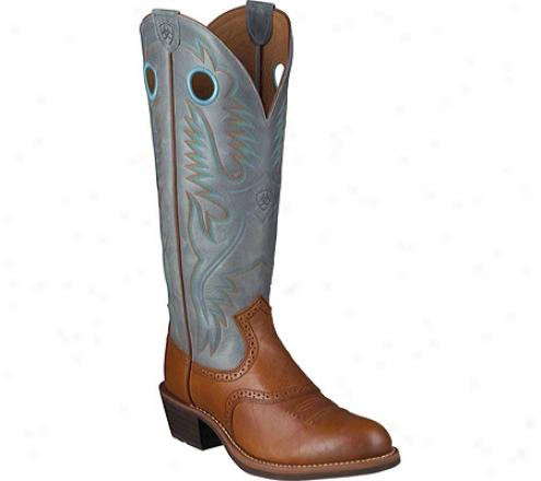 Ariat Herigage Buckaroo U Toe (men's) - Oiled Brown/denim Full Grain Leather