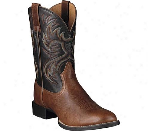 """ariat Heritage Horseman 11"""" (men's) - Maple/balck Full Grain Leather"""