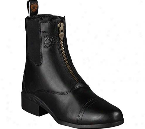 Ariat Heritage Iii Zip Paddock (women's) - Black Upgraded Full Grain Leather