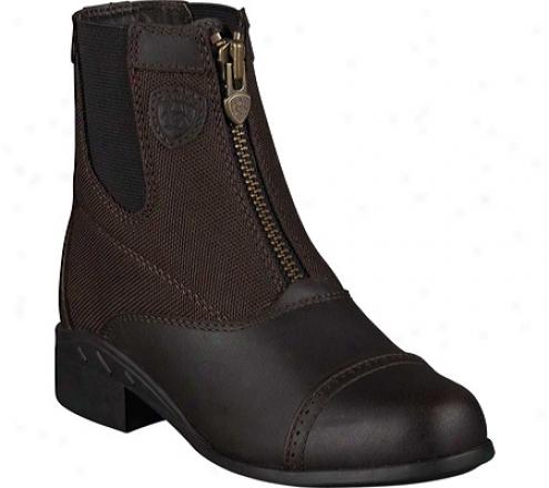 Ariat Heritage Sport Paddock Zip (children's) - Dark Brown Waterproof Full Grain Leather