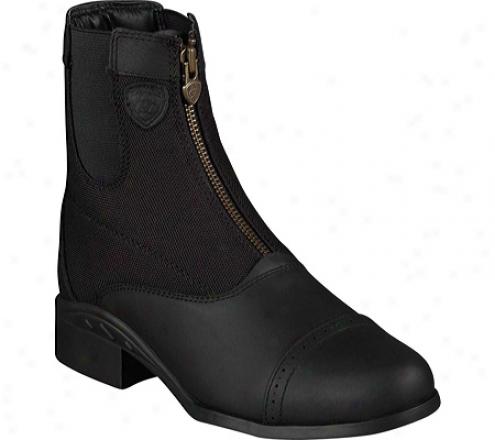 Arjat Heritage Amusement Zip Paddock (women's) - Black Waterproof Fill Grain Leather